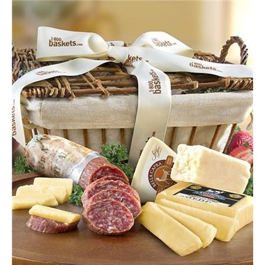 Greatfoods California Wine Country Cheese Gift Basket With Italian Salame